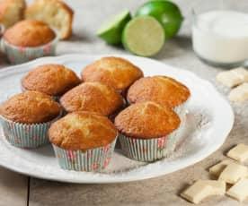 Muffin ananas e cioccolato bianco