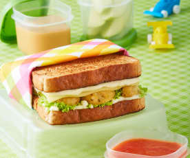 Sandwich de albóndigas de pollo