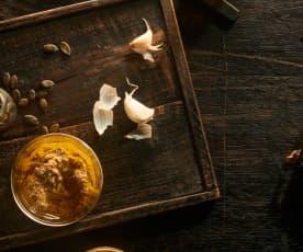 Pesto ze sušených hub a vlašských ořechů