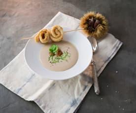 Maronisuppe mit Nuss-Fisch