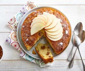 Gâteau pomme-raisin