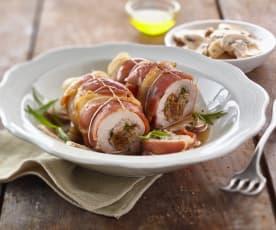 Paupiettes de porc aux figues sèches et aux noix
