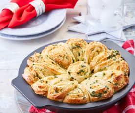 Rollitos de pan con parmesano y perejil