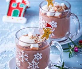 Tacitas de chocolate y crema de avellanas