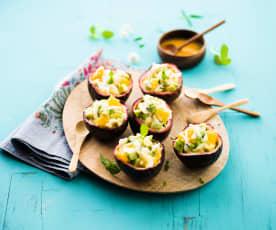 Salade de crabe aux fruits de la Passion
