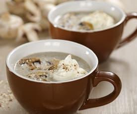 Houbové cappuccino s lískovými ořechy