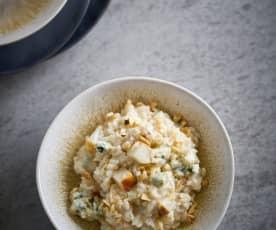Risoto de pera, noz e gorgonzola