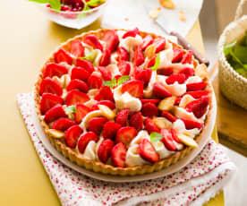 Tarte aux fraises et à la chantilly