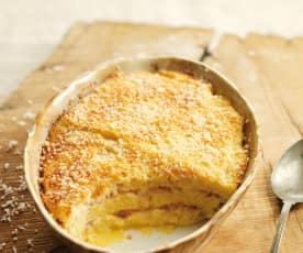 Pudim de queijo e fiambre