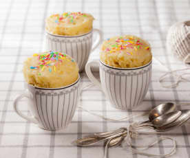 Mug cake au chocolat blanc