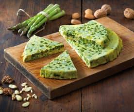 Frittata di asparagi e frutta secca