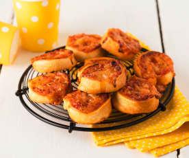 Pizzettes escargot