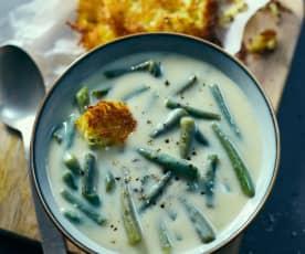Zupa maślankowa z fasolką szparagową