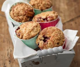 Blackberry Muffins with Cardamom Crunch Topping