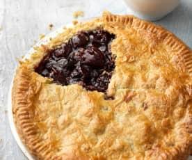 Cherry Pie with Pistachio Pastry