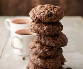 Chocolate, Raisin and Hazelnut Biscuits