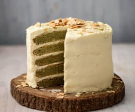 Almond and Matcha Cake