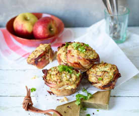 Apfel-Speck-Muffins