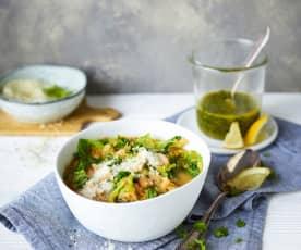 Zupa fasolowa z oliwą pietruszkowo-cytrynową