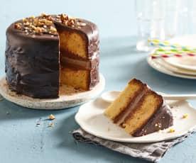 Gâteau à la pâte à tartiner et aux poires