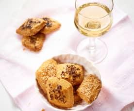 Käse-Rauten zu Wein
