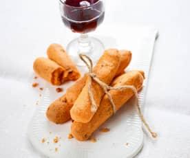 Schinken-Käse-Stangen (glutenfrei)