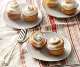 Baked Peaches with Meringue Topping