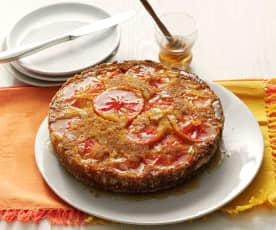 Torta arance rosse e miele