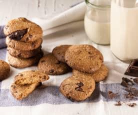 Biscotti rustici, farro cioccolato e cannella