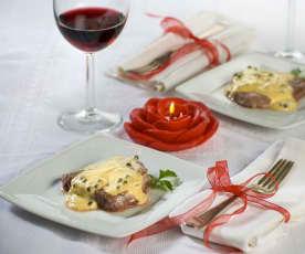 Filetto al vino passito e pepe verde (per 2 persone)