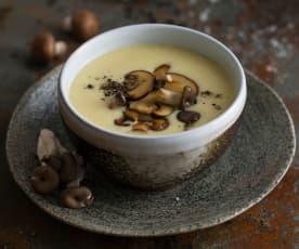 Erdäpfel-Schwammerl-Suppe (vegan)