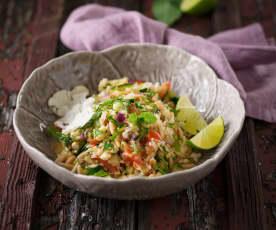Gemüsesalat mit Limetten-Marinade (vegan)