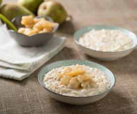 Porridge con compota de pera