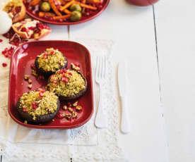 Cogumelos recheados com quinoa