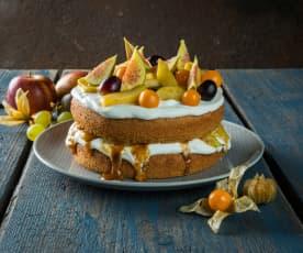Herbsttorte mit Orangencreme (glutenfrei)