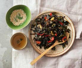 Wakame Salad with Mushroom and Sesame