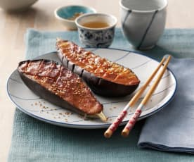 Melanzani mit Miso-Glasur (Nasu dengaku)