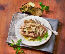 Salmone e carciofi al Varoma
