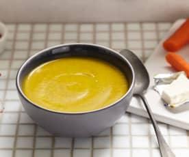 Soupe de courgette et carotte au kiri