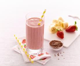 Smoothie banane-fraise aux graines de lin
