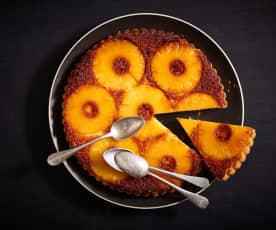 Ciasto odwrócone z karmelizowanym ananasem