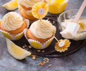 Zitronencupcakes mit Frischkäse-Topping
