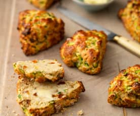 Courgette and Dried Fruit Scones