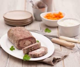 Rolada z trzech mięs z pieczarkami