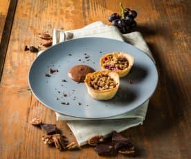 Knuspertörtchen mit Kakaocreme