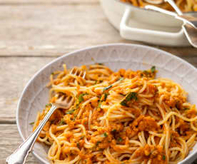 Lentil and Vegetable Bolognese Sauce