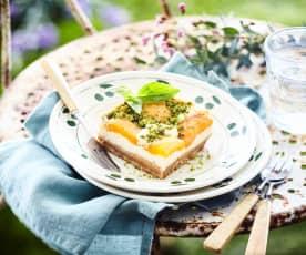 Cheesecake abricot-basilic de Claudine