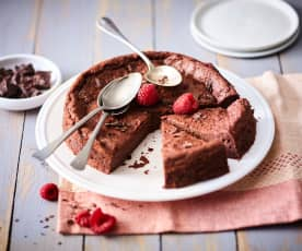 Fondant chocolat-framboise végétalien