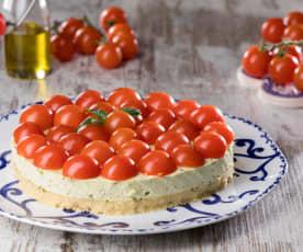 Cheesecake al pesto genovese