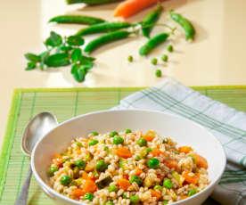 Insalata di orzo con verdure (vegan)